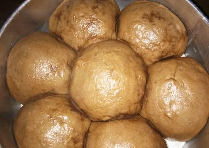 Resep Roti sobek kukus (coklat) takaran sendok
