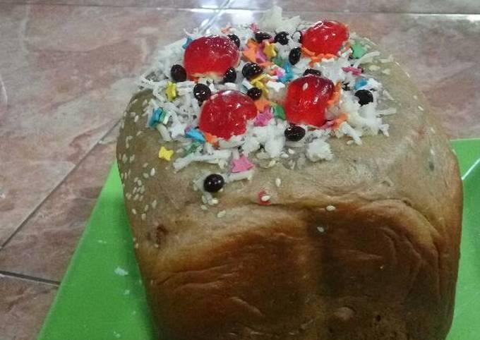 Resep: Roti sobek coklat dengan alat bread maker