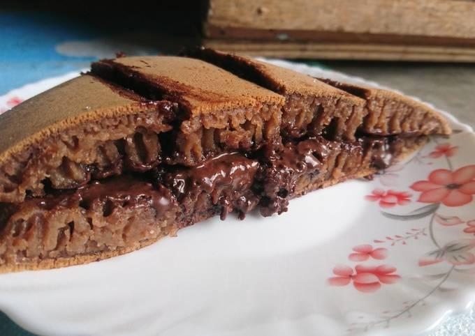 Resep: Martabak coklat simple takaran sendok | martabak teflon