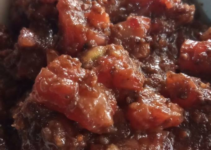 Resep: Cipuk bumbu kacang