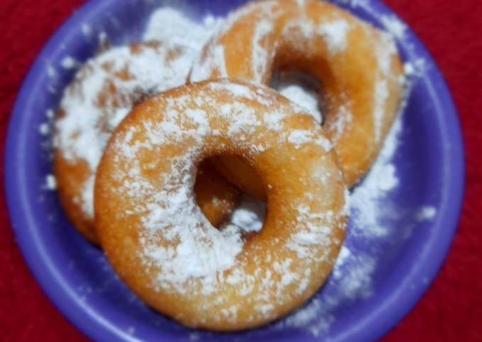 Resep Donut cair empuk lembut menul menul😍😍