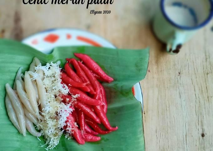 Resep: Cenil merah putih