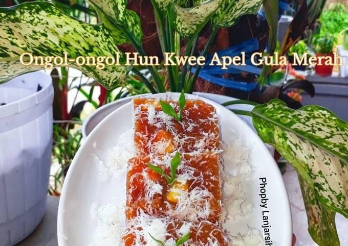 Resep Ongol-ongol Hun Kwee Apel Gula Merah