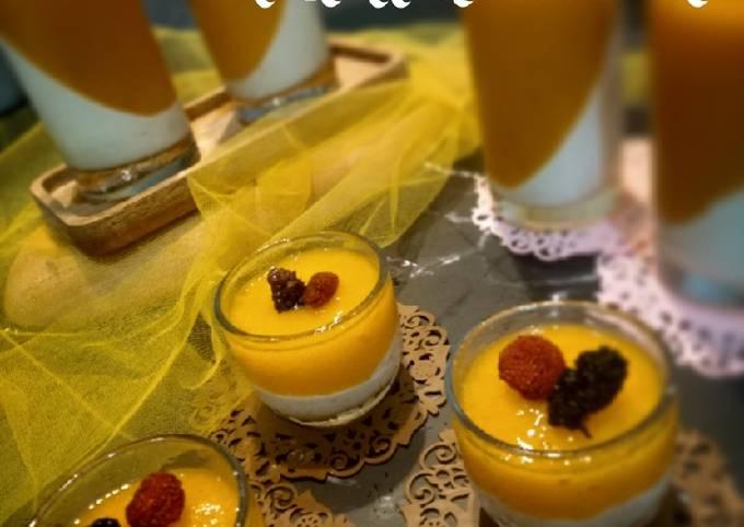 Resep Cheese milk mango pudding