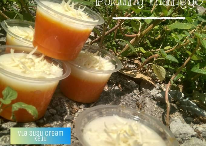 Resep: Puding mangga Vla susu creamy keju