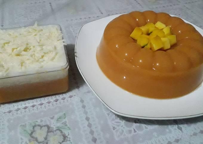 Resep Pudding mangga vla keju