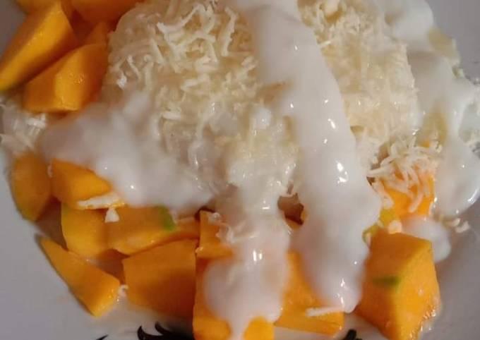 Resep Ketan susu Manggo enak praktis..👍🥰