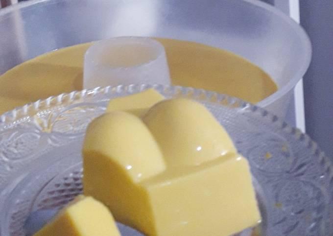 Resep Cheesy manggo pudding
