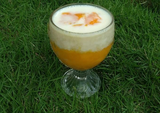 Resep Mango juice with cream cheese