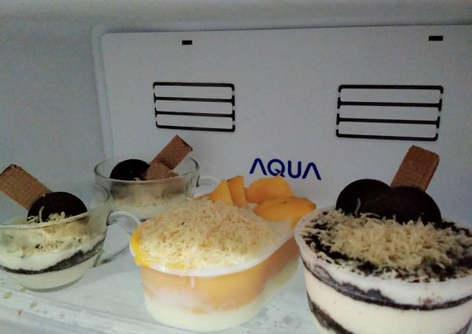 Resep: Cheese cake lumer Oreo & mangga