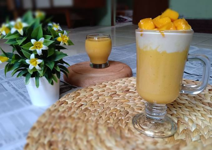 Resep Jus mangga n cream cheese