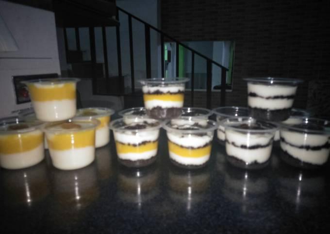 Resep: Cheese cake lumer oreo mangga