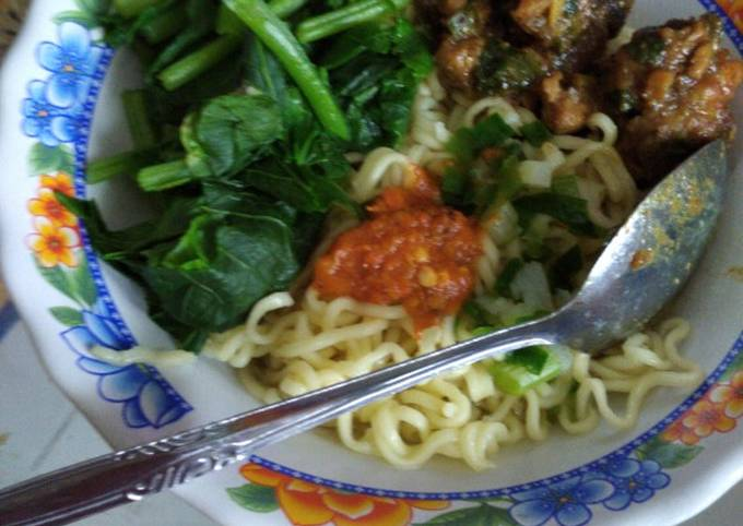 Resep: Mie ayam solo home made