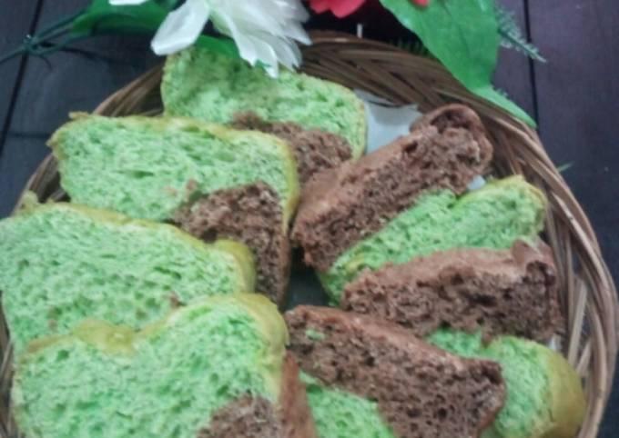 Resep: Roti tawar 3 rasa (pandan, coklat, spekuk)