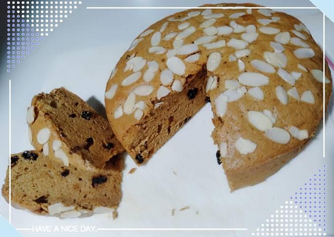 Resep Cake rempah kismis dan almond