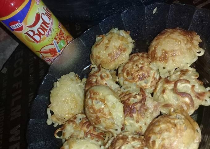 Resep: Takoyaki mie (bumbu racik nasgor ayam)