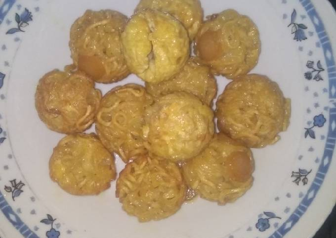 Resep: Mie takoyaki