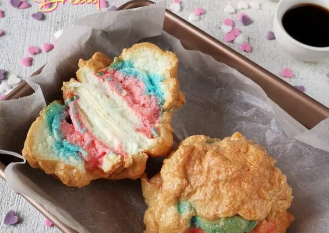 Resep: Rainbow Cloud bread