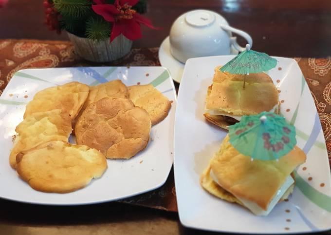 Resep: Keto/demb cloud bread (manis dan asin)