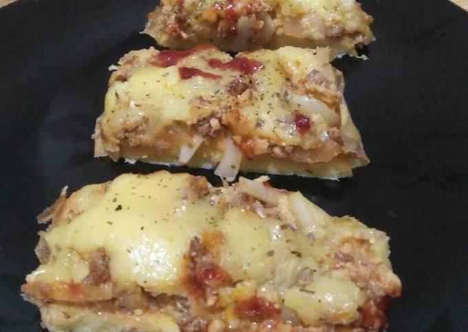 Resep Cloud bread pizza ketofy
