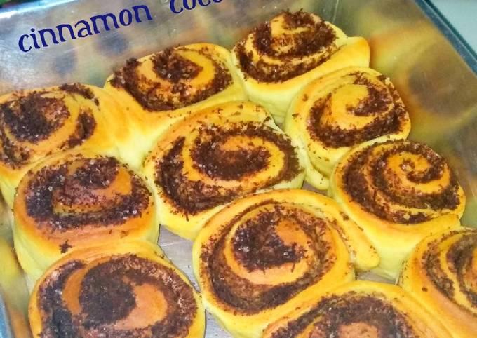 Resep Cinnamon Coconut Roll (Ampas parutan kelapa sangrai)
