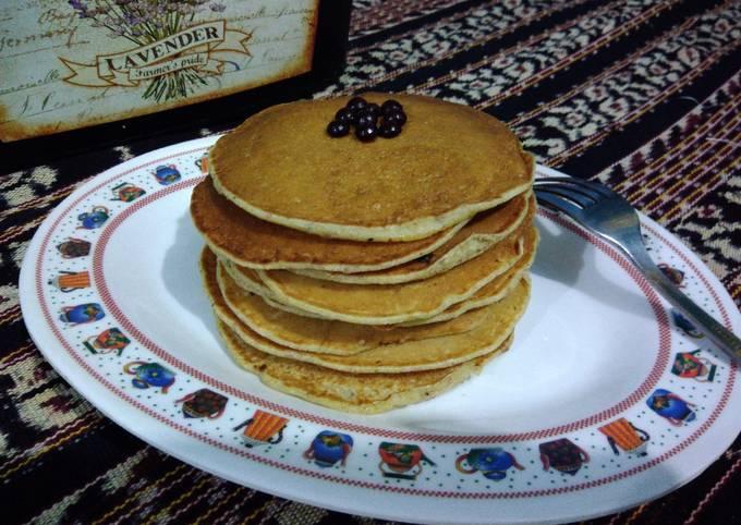 Resep: Pancake Almond pulp/ampas almond praktis banget