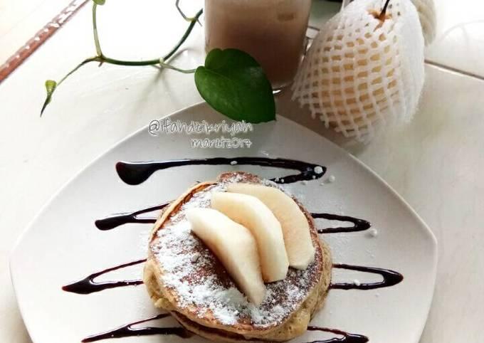 Resep Pancake ampas buah pir
