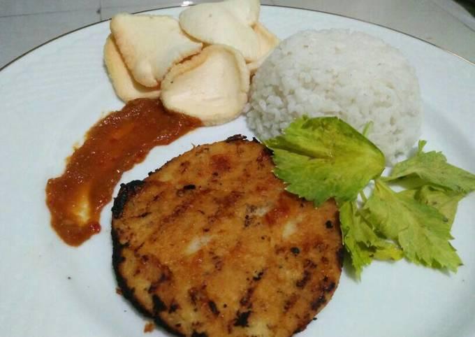 Resep: Steak (ampas tahu/okara) dan saus bbq homemade
