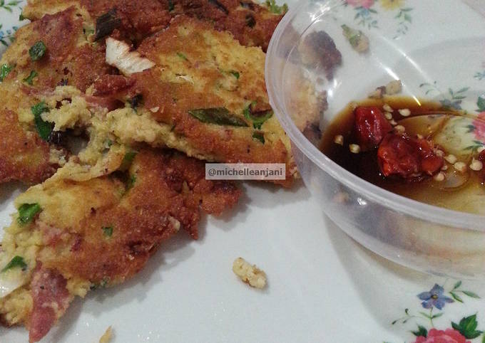 Resep Pan Fried Okara (ampas kacang kedelai)