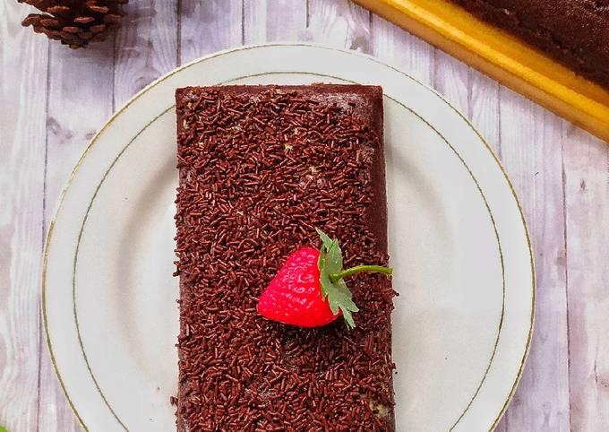 Resep: Choco moist cake (no oven,no mixer)