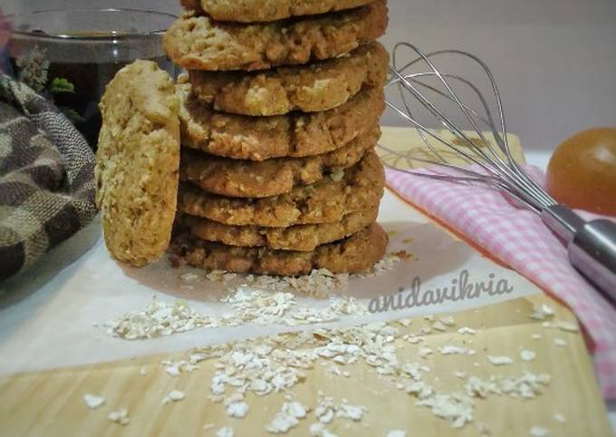 Resep: Oatmeal chewy cookies