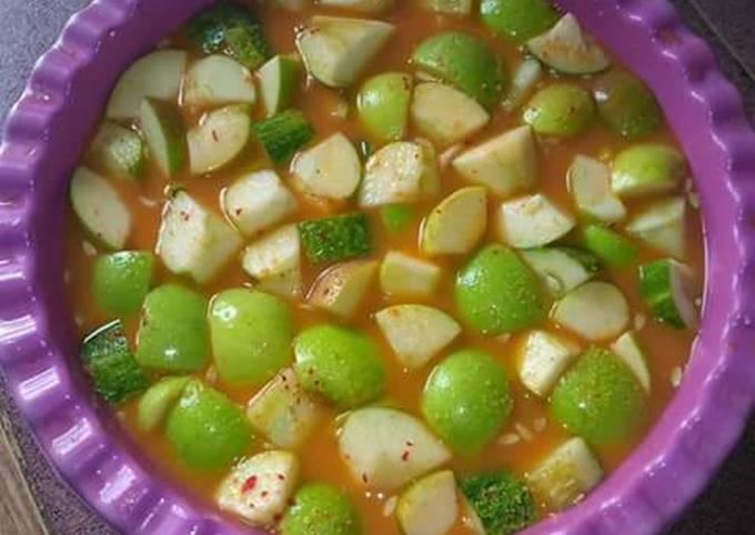 Resep: Asinan buah NanoNano(kuah kacang)