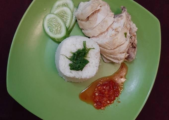 Resep: Nasi Hainan dan Ayam rebus sederhana