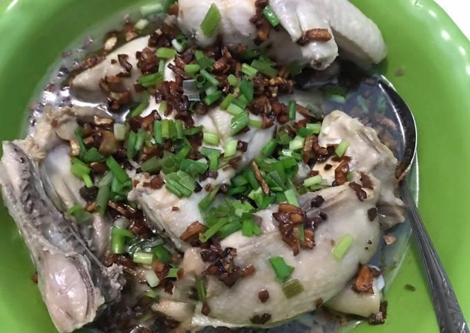 Resep: Ayam Hainanese tanpa Ribet tanpa Rebus (Pek Cam Kee)