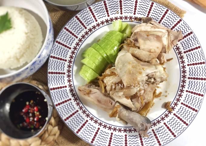 Resep Nasi Hainam dengan Ayam Rebus - Pek cam kee - menu sehat enak dan bergizi