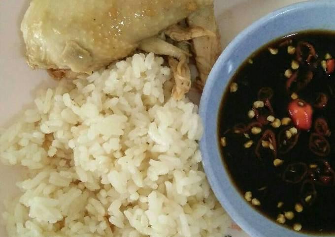 Resep Ayam rebus pekcamkee + Nasi hainan magicom