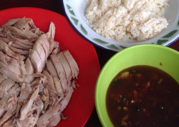 Nasi Hainam ayam rebus enak sekali untuk si pacar 😘