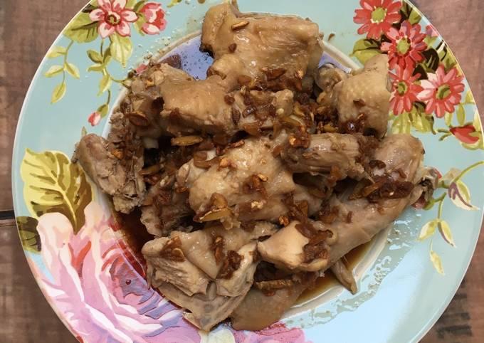 Resep: Ayam Rebus (teman nasi hainan)
