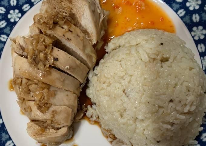 Resep: Nasi hainan (ayam rebus)