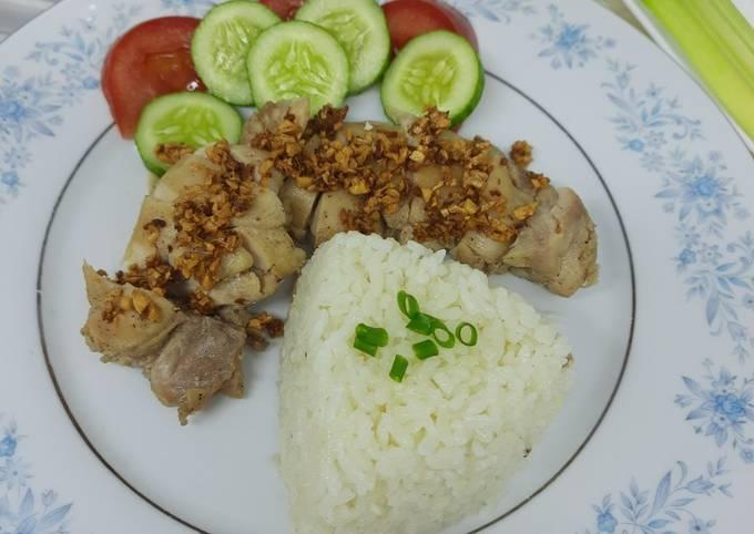 Resep Nasi Hainan & Ayam Jahe