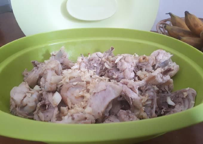 Resep: Ayam Pek Cam Ke/Ayam tim (pendamping nasi hainan)