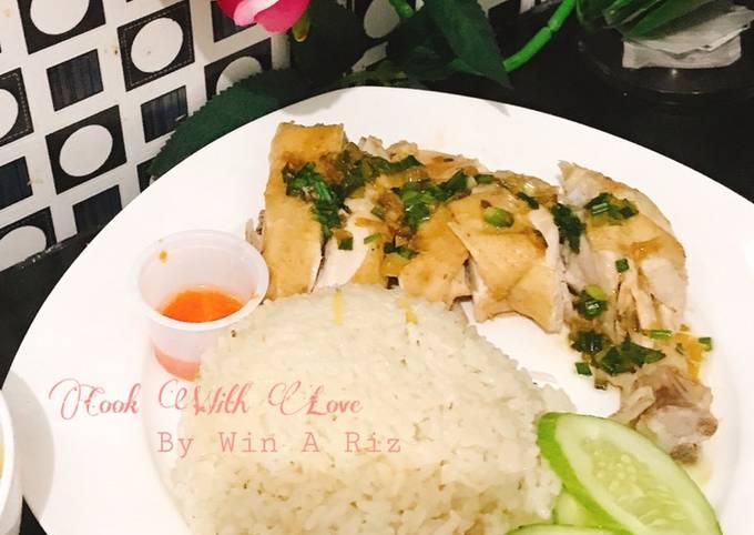 Resep Hainanese chicken rice / Nasi Ayam