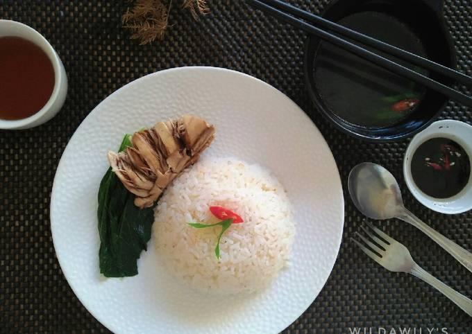 Resep Nasi Ayam Hainan *rice cooker*