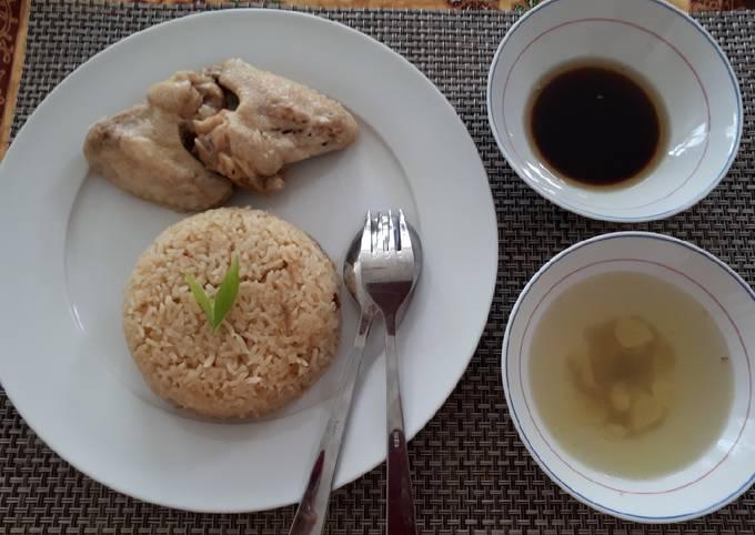 Resep Nasi ayam hainan (rice cooker)