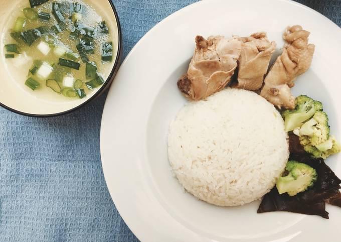 Resep: Hainanse chicken rice/Nasi ayam Hainan