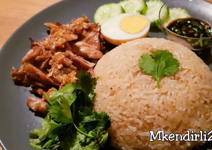 Resep: Hainanese chicken rice / Nasi hainan