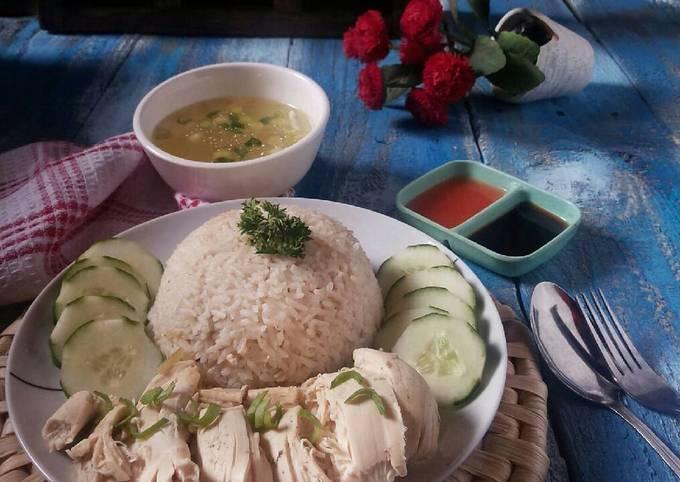 Resep: Hainan Chicken Rice dengan rice cooker