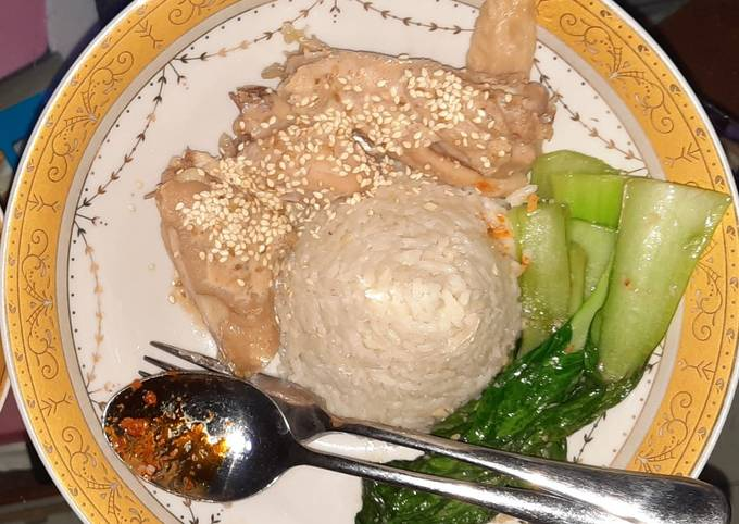 Resep: Nasi ayam hainan versi tim ayam kampung