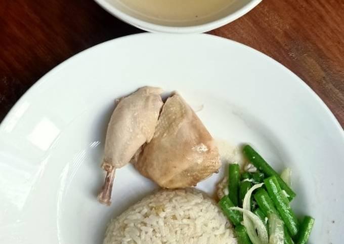 Nasi ayam hainan simpel