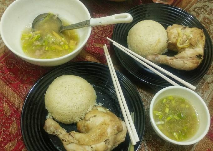 Resep: Nasi ayam hainan bumbu instant